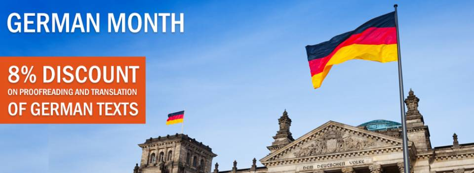 Discount on German proofreading and translations!