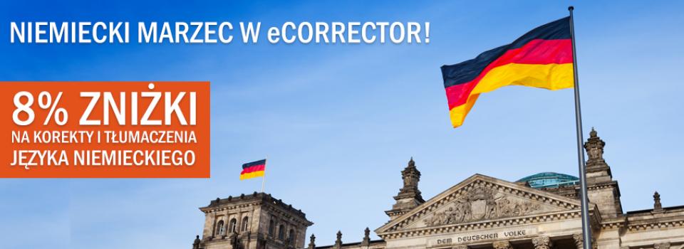 Niemiecki Marzec w eCORRECTOR!