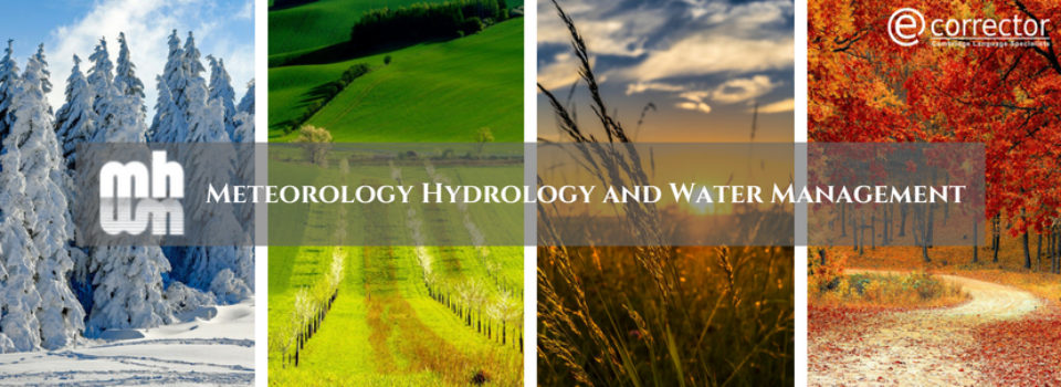 Cooperation with the Meteorology Hydrology and Water Management – Research and Operational Application journal